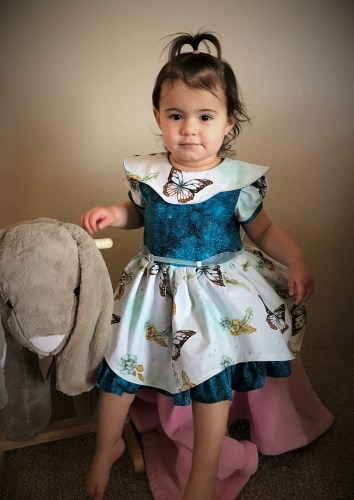 Girls Easter Dress sewing pattern. The Alivia Dress. Sewing Pattern by The Handmaiden's Cottage. Sewn by Aurora Designs.