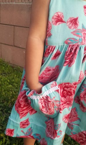 Girls Easter Dress Sewing Pattern. The Hop Skip Jumper by The Handmaiden's Cottage. Sewn by Our Play Place