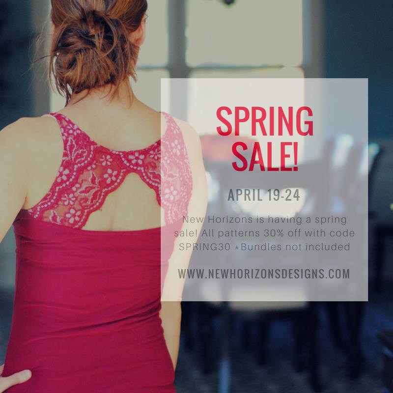 New Horizons Sewing Patterns Spring Sale. Save 30%!