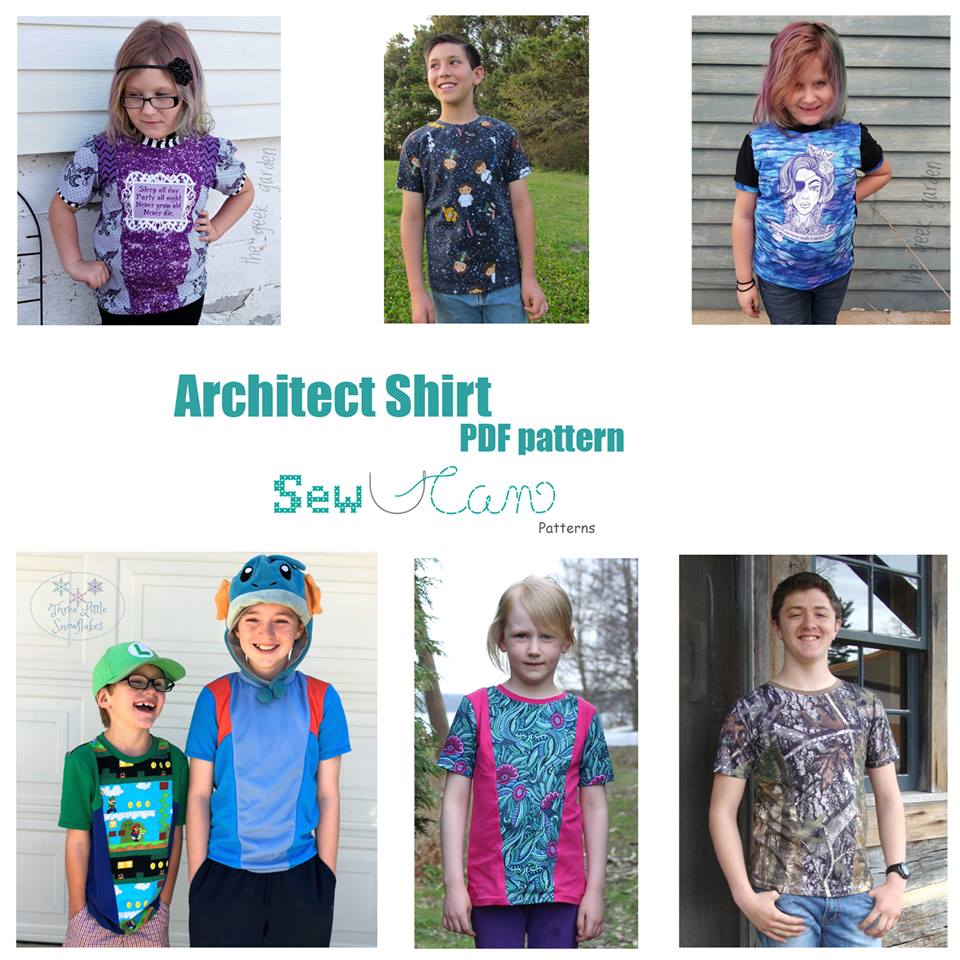 The Architect Shirt by Sew U Can Patterns is now available in big kid and teen sizes!