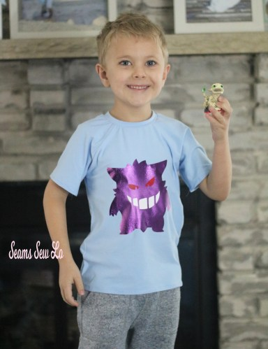 Boys Pokemon Gengar Birthday Shirt