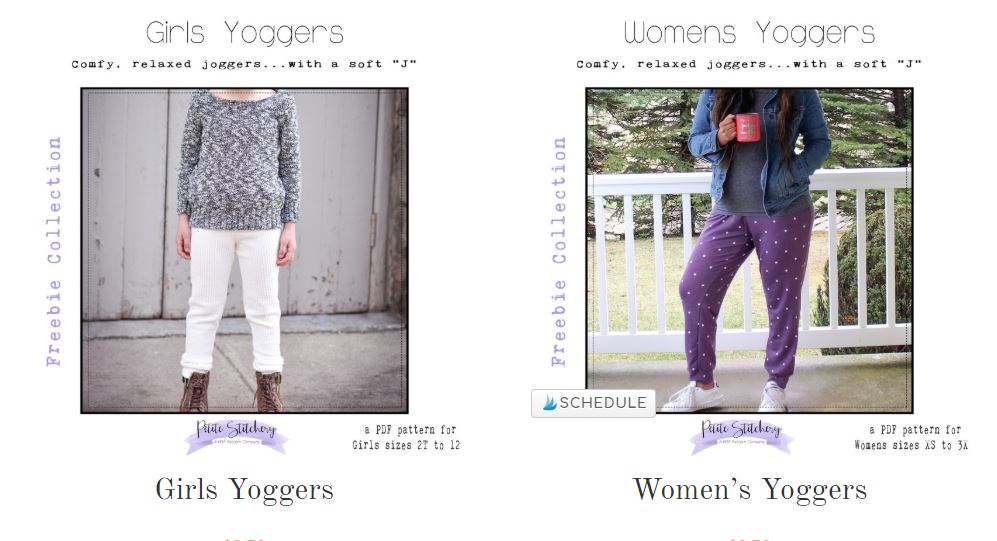 FREE Mommy and Me Joggers Sewing Patterns by Petite Stitchery