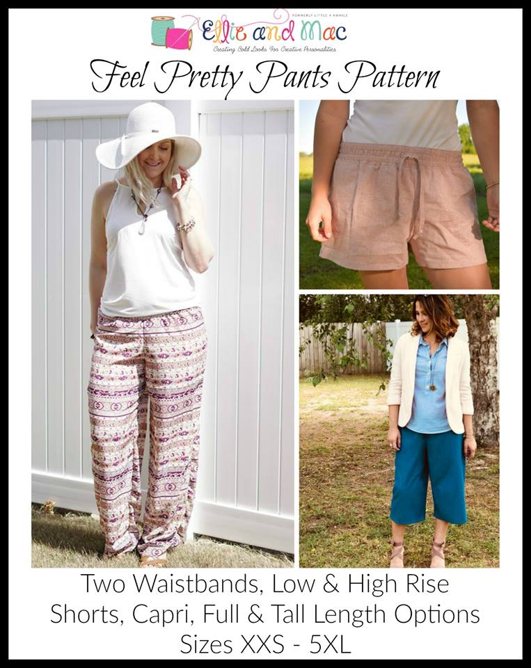 Feel Pretty Pants Sewing Pattern Release and Sale!