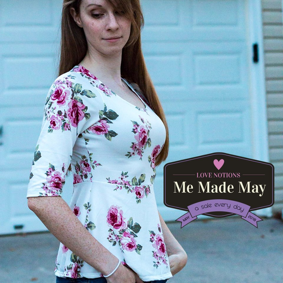 Margot Peplum Women's Sewing Pattern by Love Notions One Day Sale