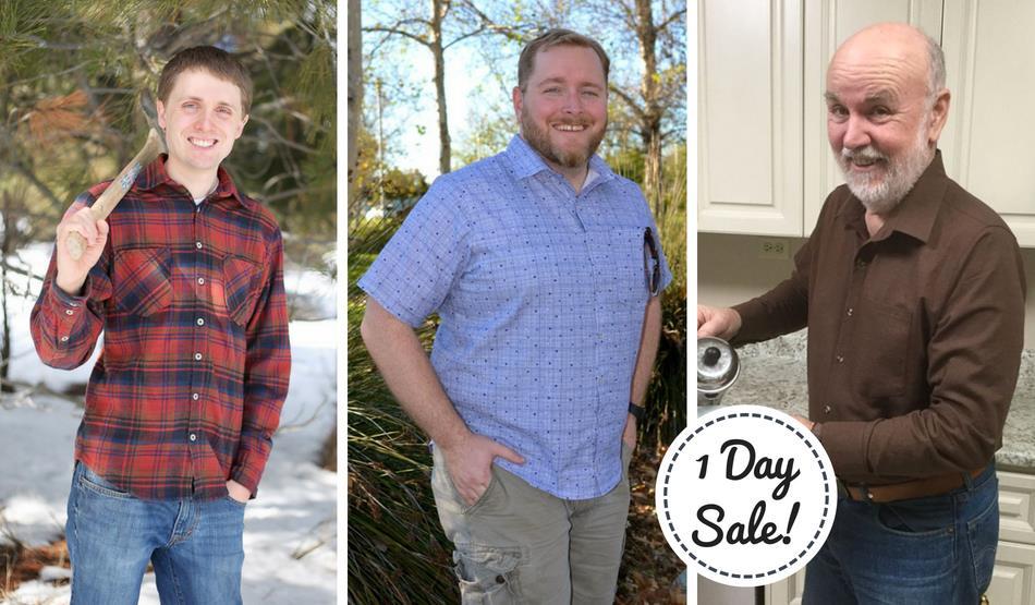 Men's Yukon Button Up Shirt Sewing Pattern Sale by Peek A Boo Patterns