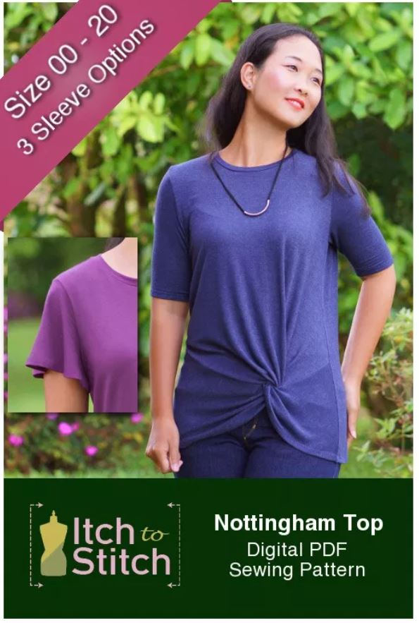 Nottingham Women's Top Sewing Pattern Release and Sale by Itch to Stitch