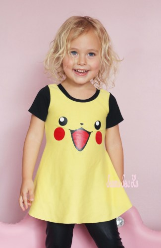 Pikachu Dress Sewing Pattern for Girls SVG file