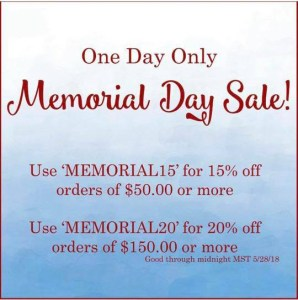 Raspberry Creek Fabrics Memorial Day Sale