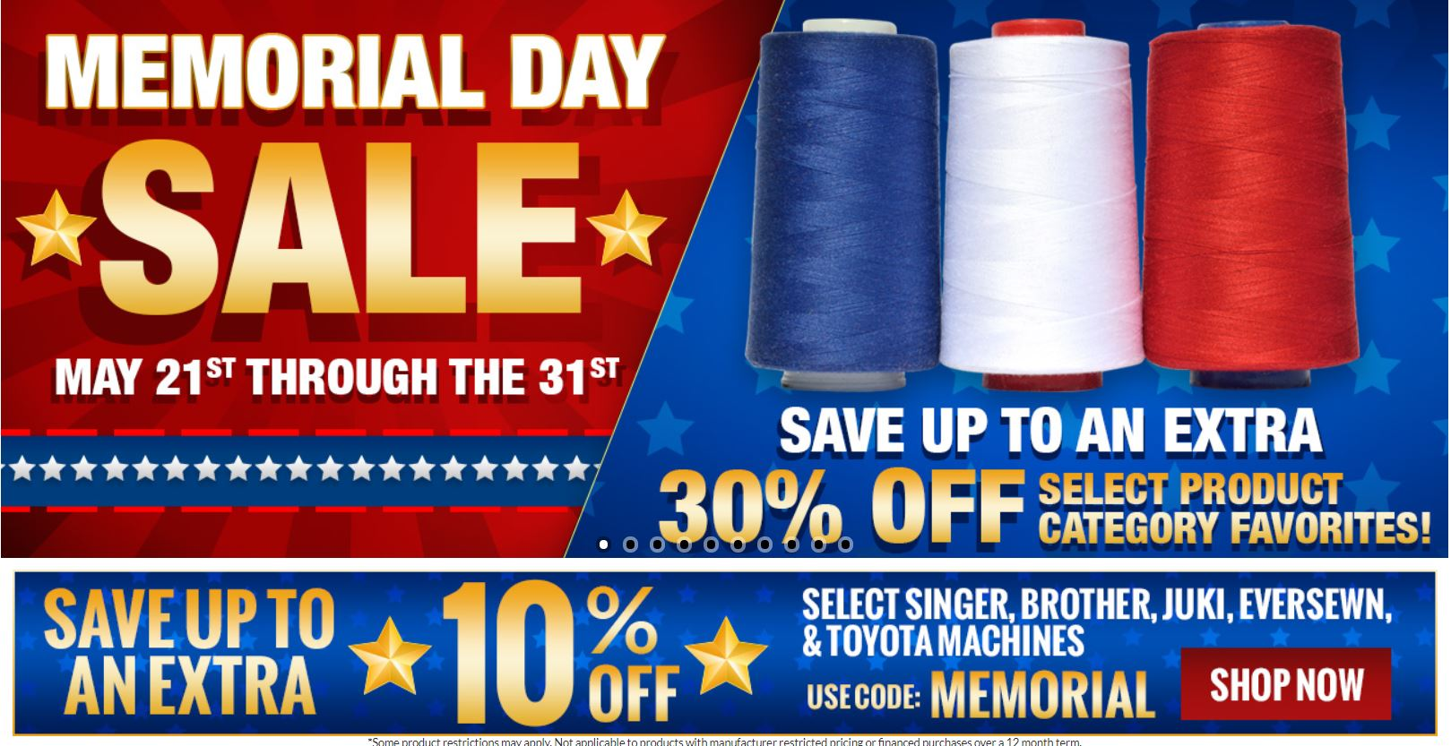 Sewing Machines Plus Memorial Day Sale
