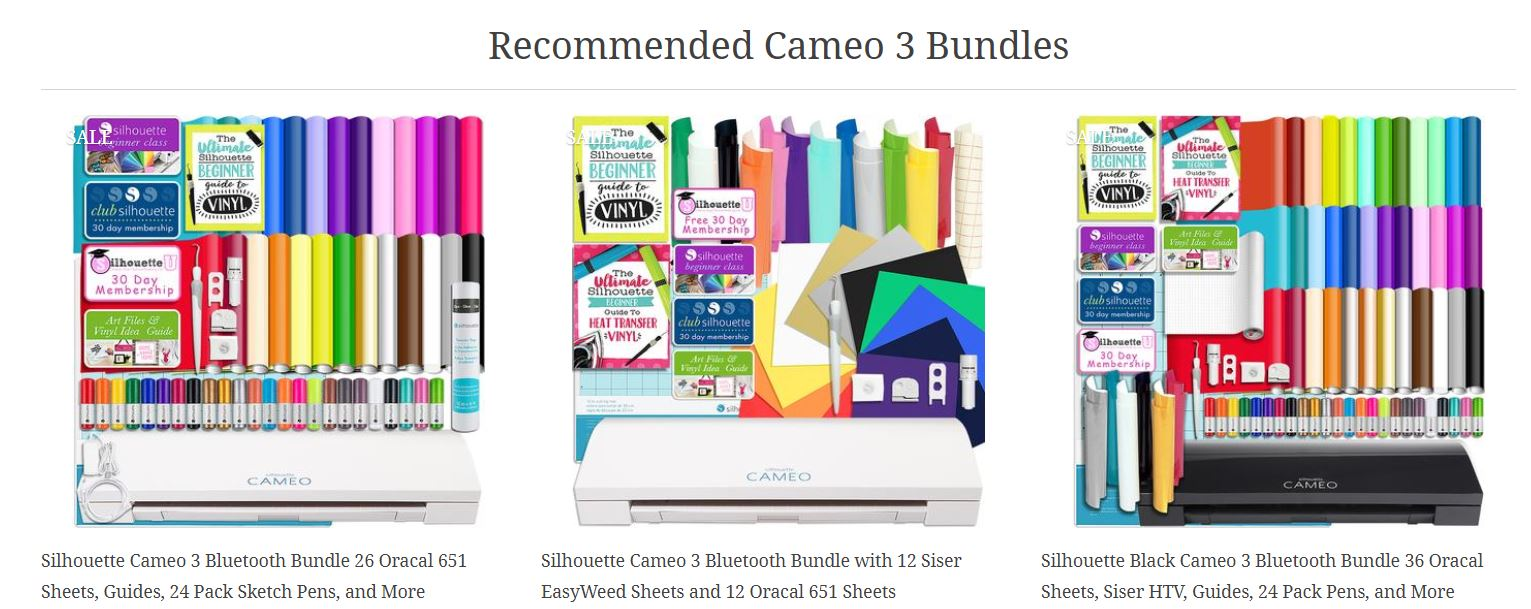Silhouette Cameo Bundles Mother's Day Sale at Swing Design