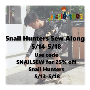 Snail Hunters Sewing Pattern Sew a Long with Pickletoes