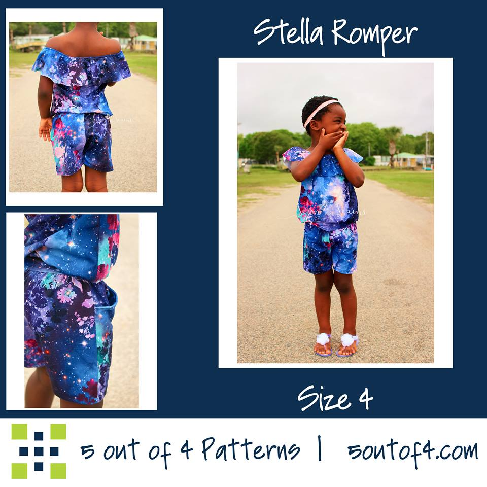 Stella Romper Sewing Pattern Sale by 5 out of 4 Patterns