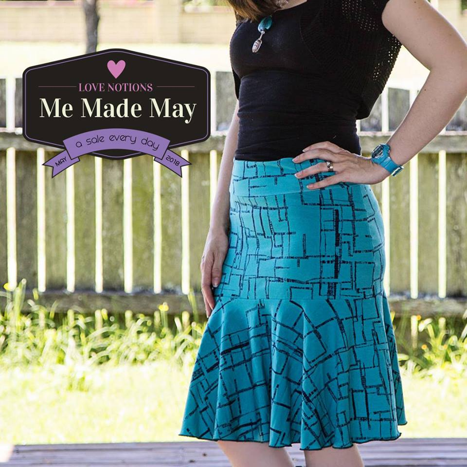 Sybil Skirt Sewing Pattern Sale at Love Notions for Me Made May