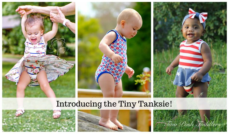 Tiny Tankies Onesie Sewing Pattern Release and Sale by Peek A Boo Sewing Patterns