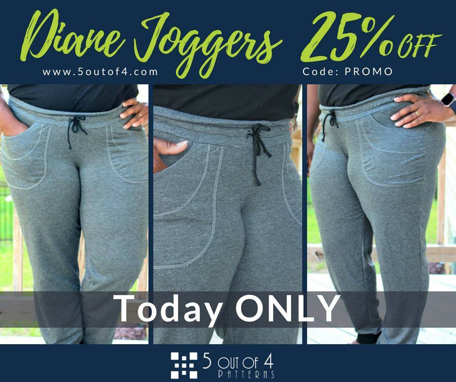 Diane Joggers Sewing Pattern Sale by 5 out of 4 Sewing Patterns