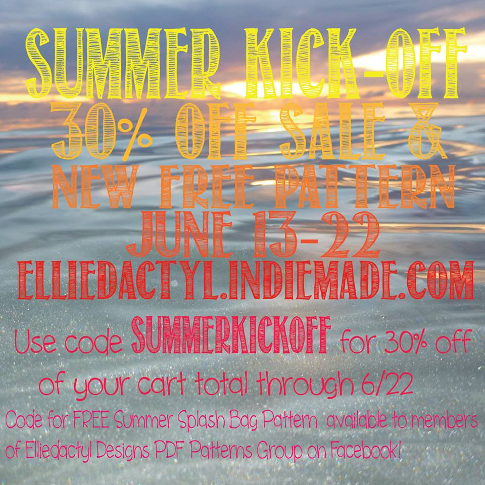 Elliedactyl Designs Sewing Pattern Summer Kick Off Sale