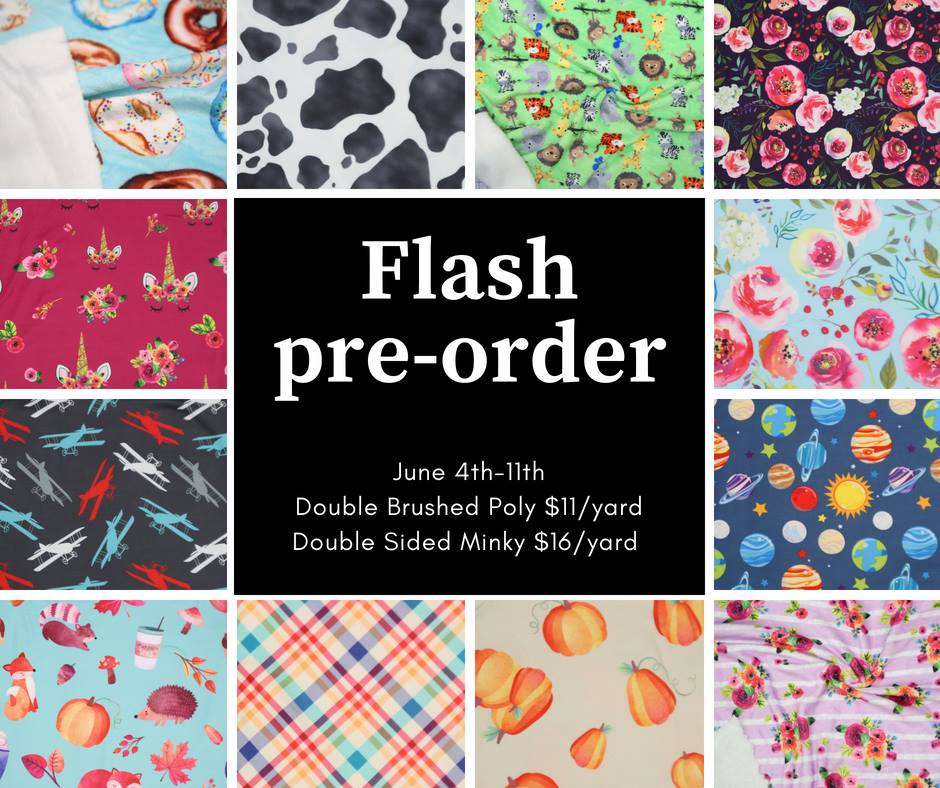 Peek A Boo Fabric Flash Pre Order Sale