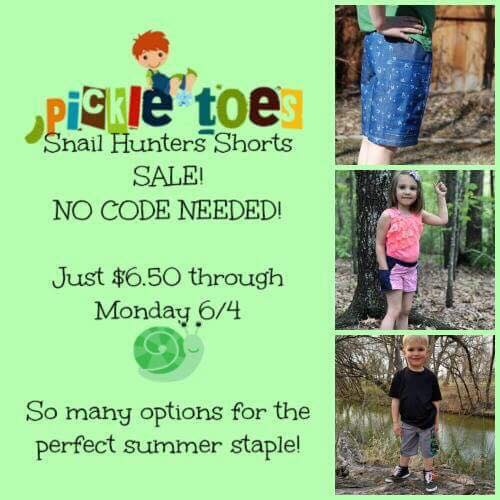 Pickle Toes Snail Hunters Shorts Sewing Pattern Sale