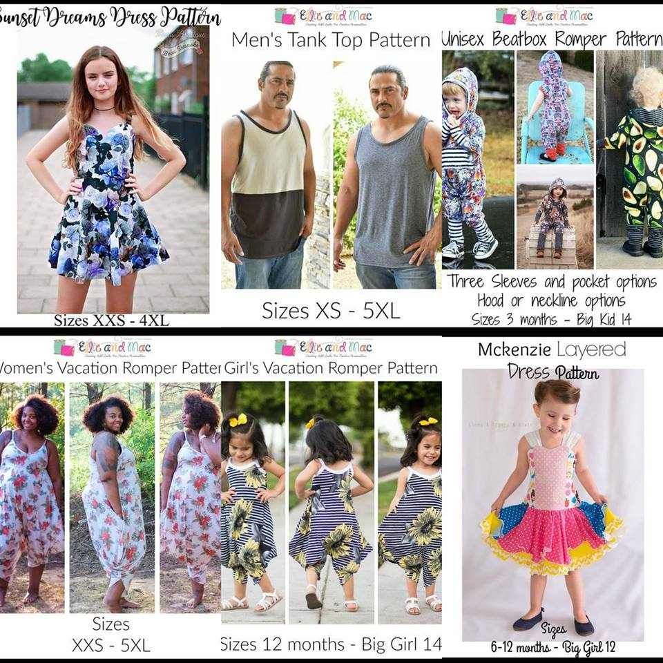 Wacky Wednesday $1 Sewing Patterns by Ellie and Mac June 21