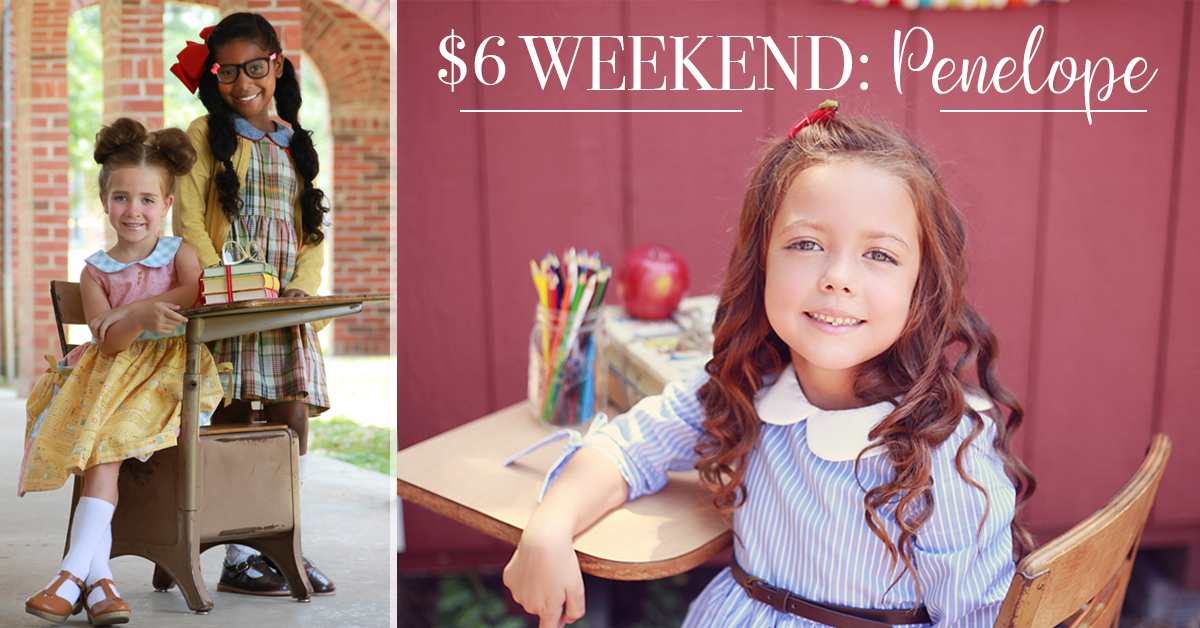 $6 Weekend Penelope Girls Dress Sewing Pattern Sale from VFT