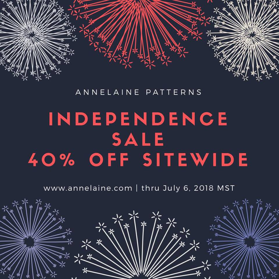 Annelaine Patterns 4th of July Sewing Pattern Sale