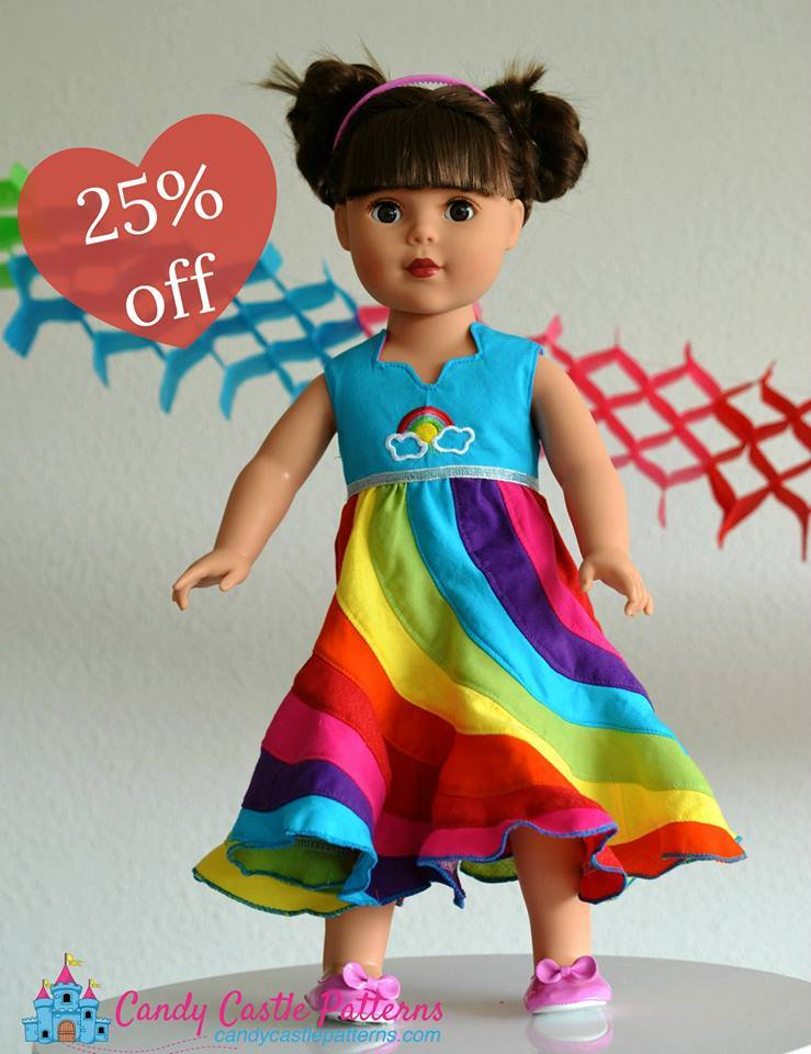 Candy Castle Patterns 4th Of July Doll Sewing Pattern Sale