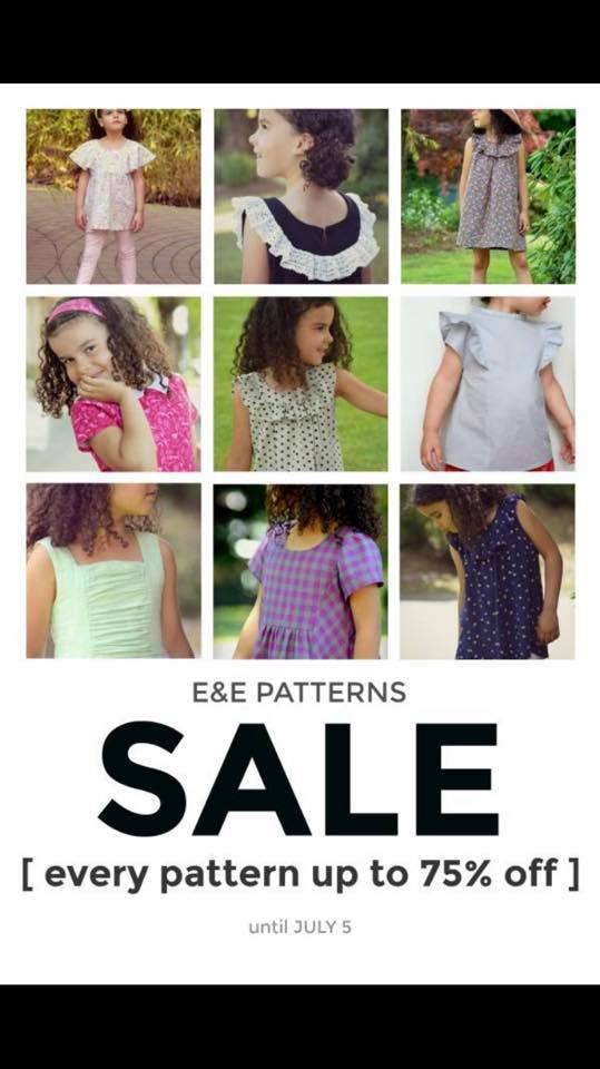 E and E Patterns 4th of July Sewing Pattern Sale
