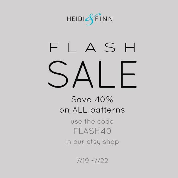 Heidi & Finn 40% Off Sewing Pattern Flash Sale