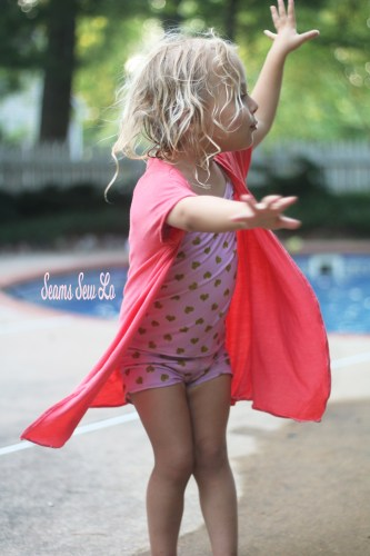 Made for Mermaids Girls Lola Swimsuit Cover Up Sewing Pattern