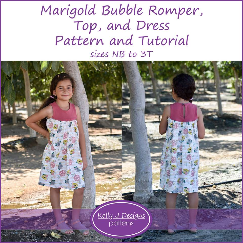 Marigold Top and Dress Sewing Pattern for Girls Release and Sale