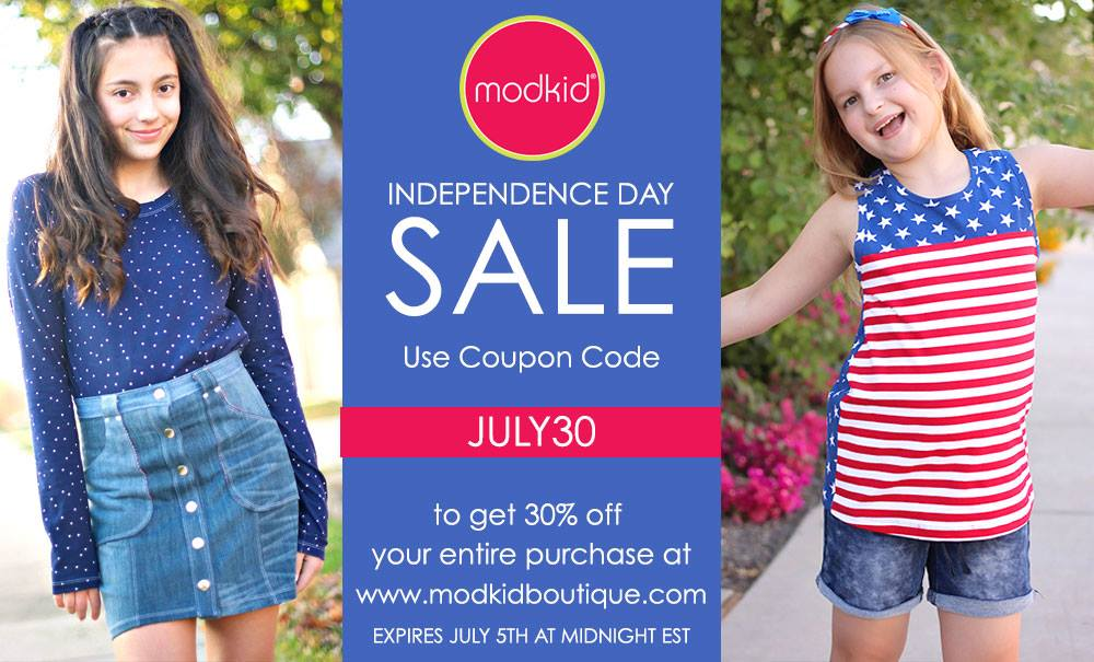 Modkd 4th of July Sewing Pattern Sale