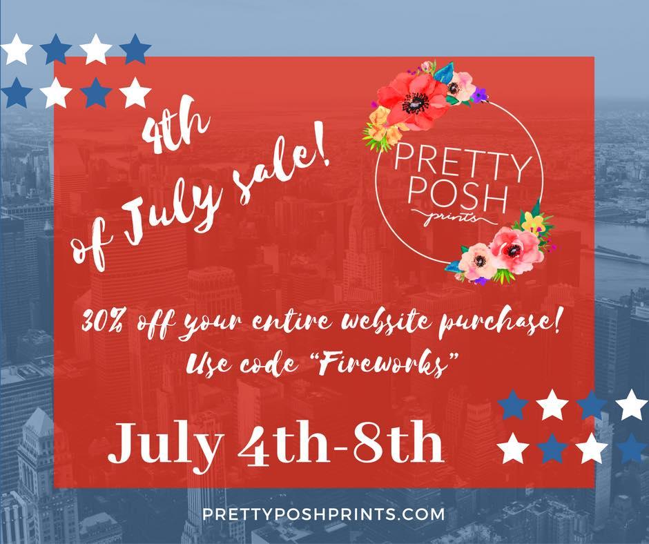 Pretty Posh Prints 4th of July Fabric Sale