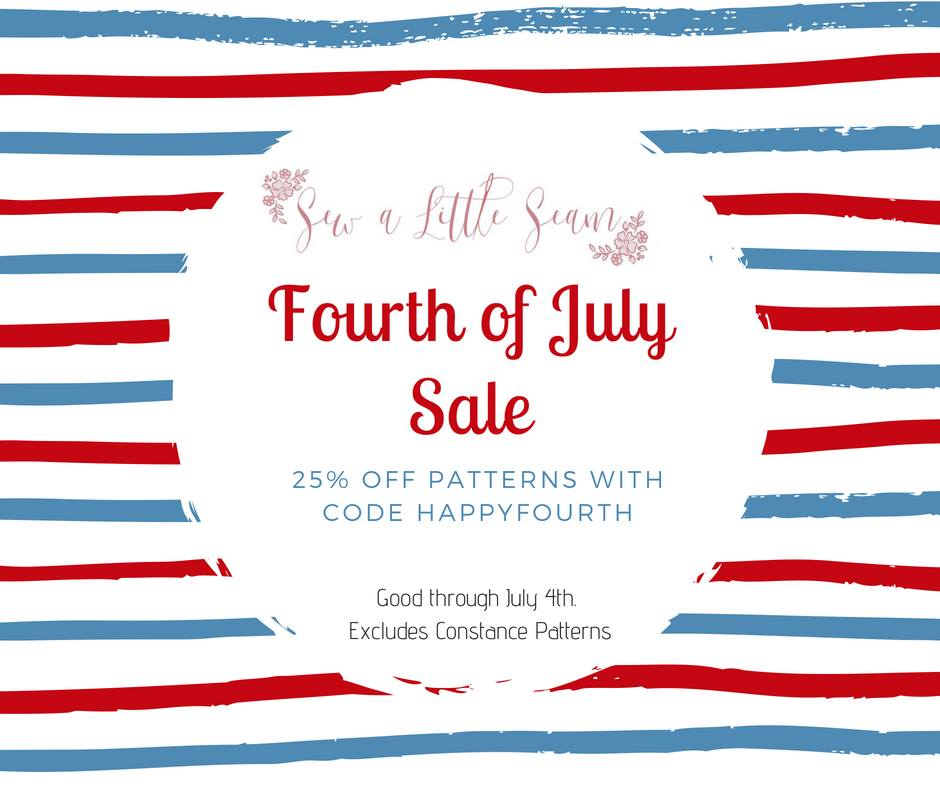 Sew A Little Seam 4th of July Sewing Pattern Sale