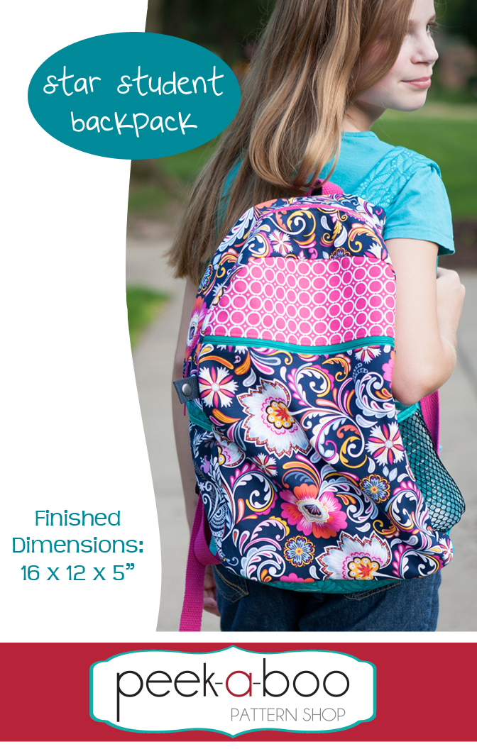 Star Student Backpack Sewing Pattern Sale
