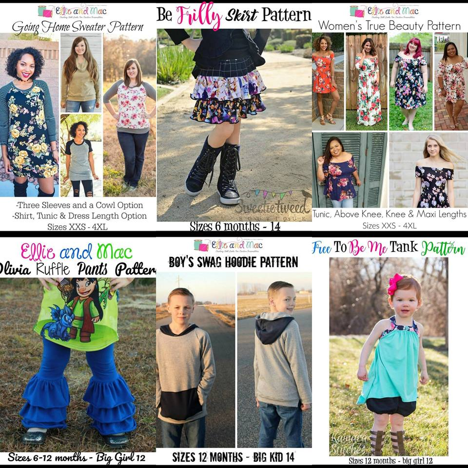 Wacky Wednesday $1 Sewing Patterns by Ellie and Mac