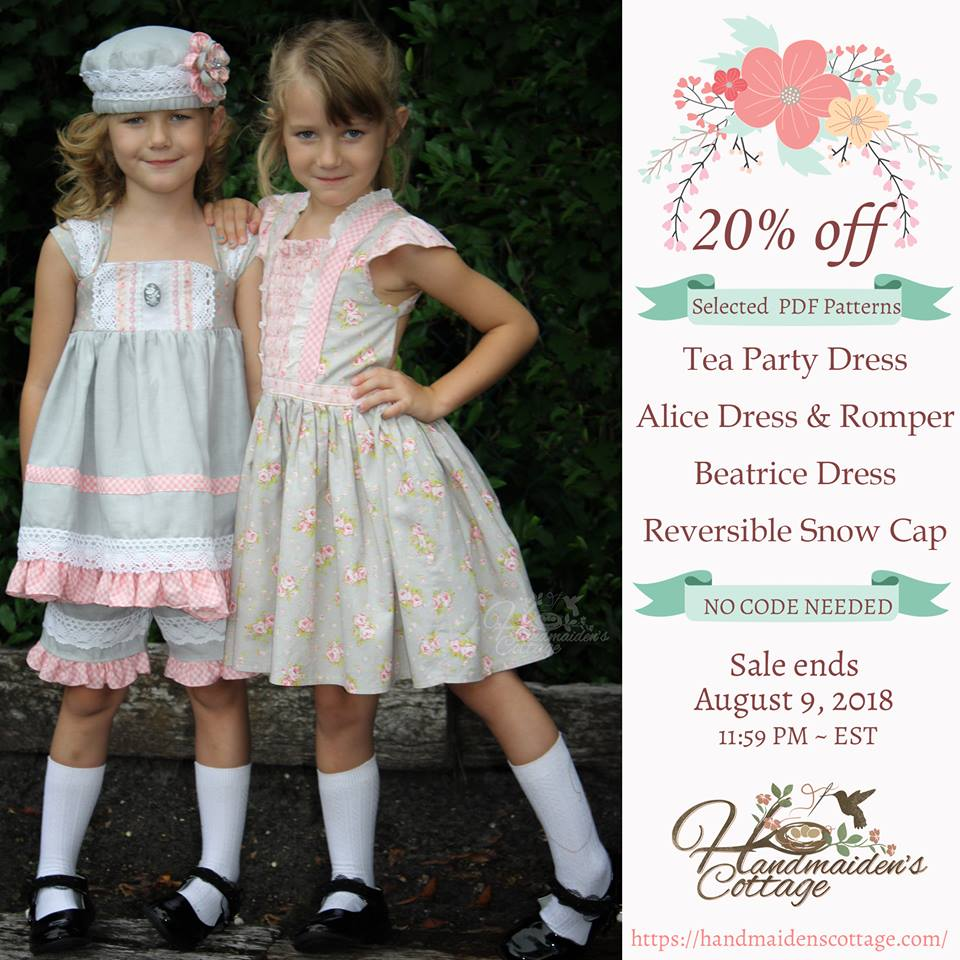 20% Off Select Patterns at The Handmaiden's Cottage