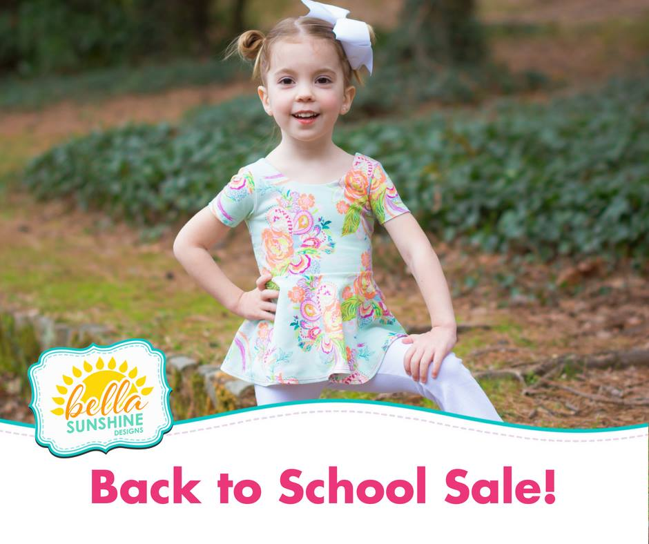 Bella Sunshine Designs Back to School Sewing Pattern Sale
