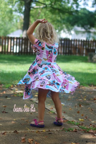 Girls Dress Sewing Pattern, Twirly