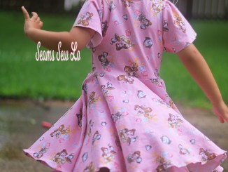 School is Cool Back to School Dress Twirly Dress Sewing Pattern by Ellie and Mac Back