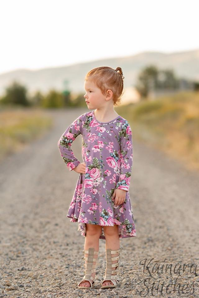 Girls Palo Verde Dress Sewing Pattern Release and Sale