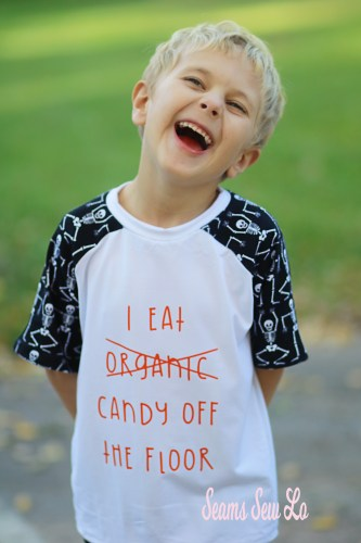 Boys Funny Halloween Shirt SVG Sewing Pattern