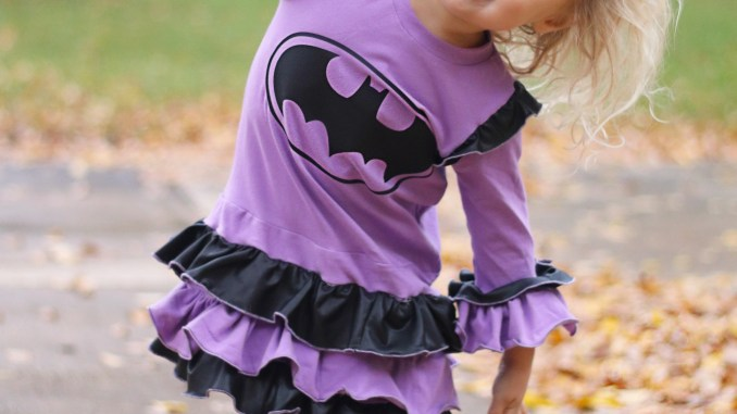 DIY Batgirl Dress in purple and black