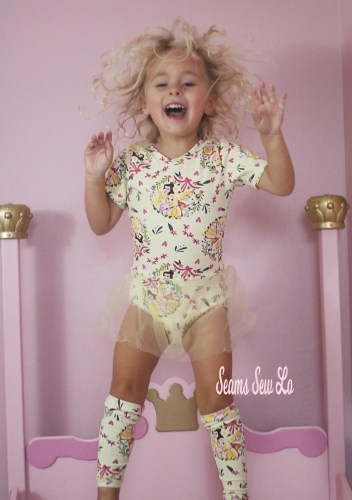 Princess Ballerina Leotard Sewing Pattern Ocotillo by Honeydew Kisses