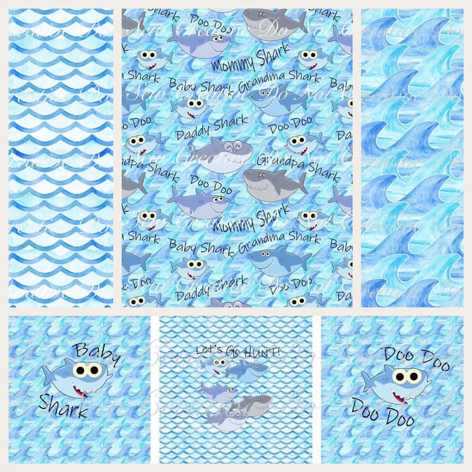 Baby Shark Custom Fabric