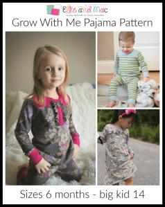 Free Grow With Me Pajama Sewing Pattern