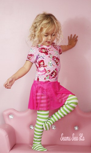 Girls Footed Tights Sewing Pattern