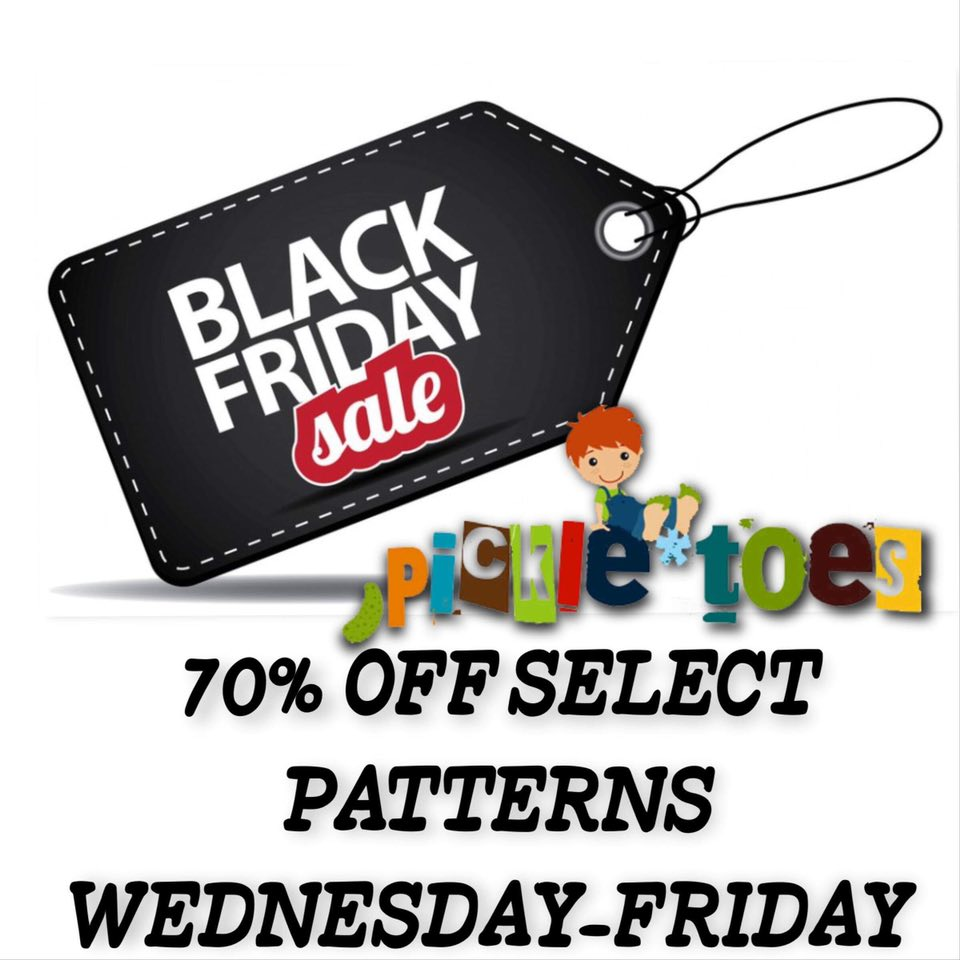 Pickle Toes Patterns Black Friday Sewing Pattern Sale