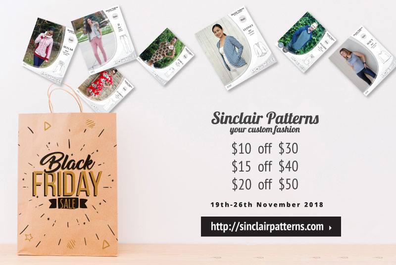 Sinclair Patterns Black Friday Sewing Pattern Sale