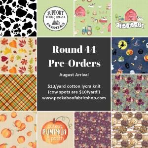 Peek A Boo Round 44 Fabric Preorder