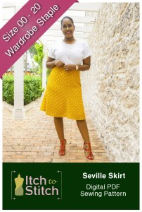 Seville Skirt Sewing Pattern Release and Sale by Itch to Stitch